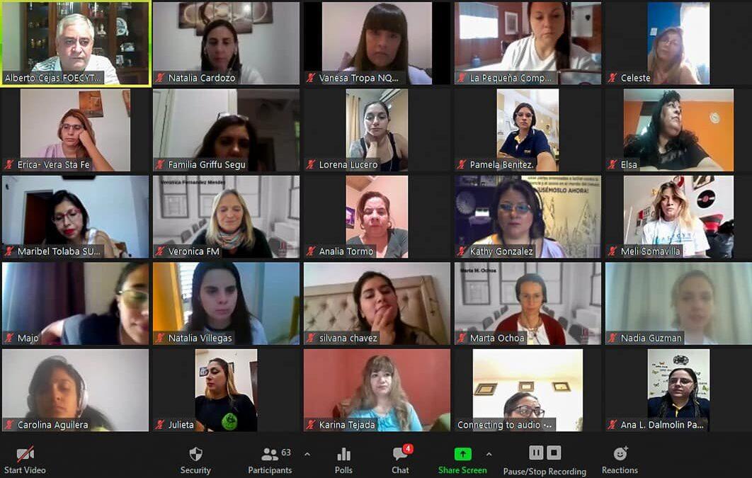 8M. Red Nacional de Mujeres FOECYT presente.