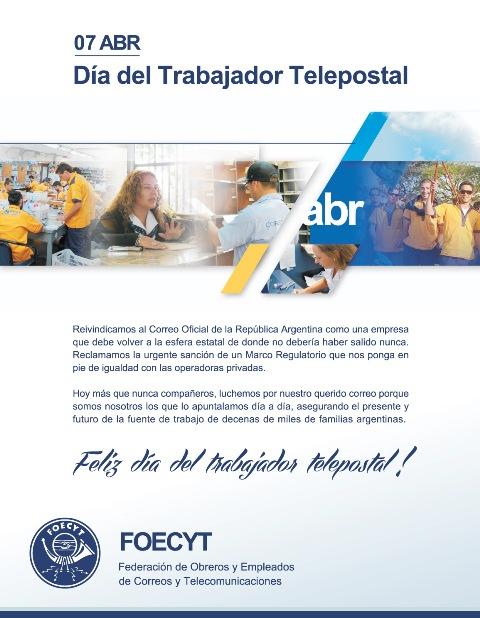 7 de abril – Día del trabajador telepostal