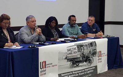 FOECYT participó del Seminario Regional UNI Américas Postal & Logística sobre privatización y sindicalización.
